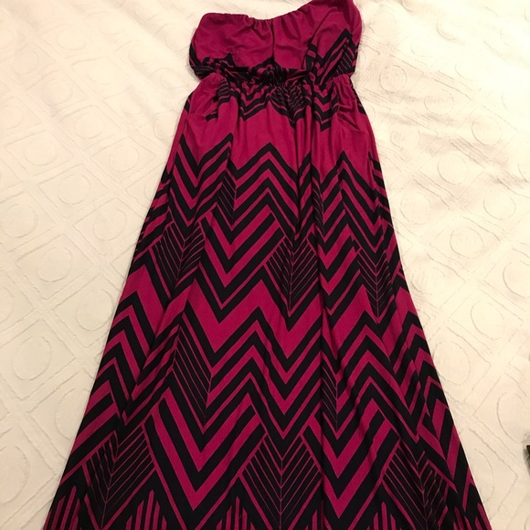Dresses & Skirts - Pink and dark blue maxi.